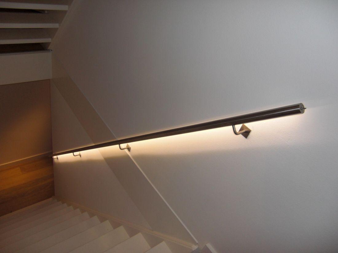 Deze design trapleuning met led verlichting worden compleet geleverd ...