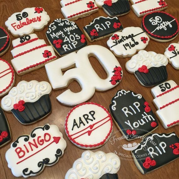 2 Doz. 50th Birthday Over The Hill Cookies