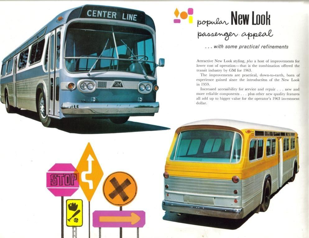 1963 Brochure For The Gmc New Look Bus Bus Retro Bus Old School Bus