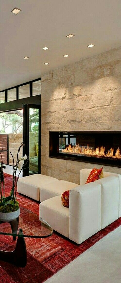 Pinmaame Nyaa On Modern Fireplace  Pinterest  Modern Simple Living Room Designs With Fireplace 2018