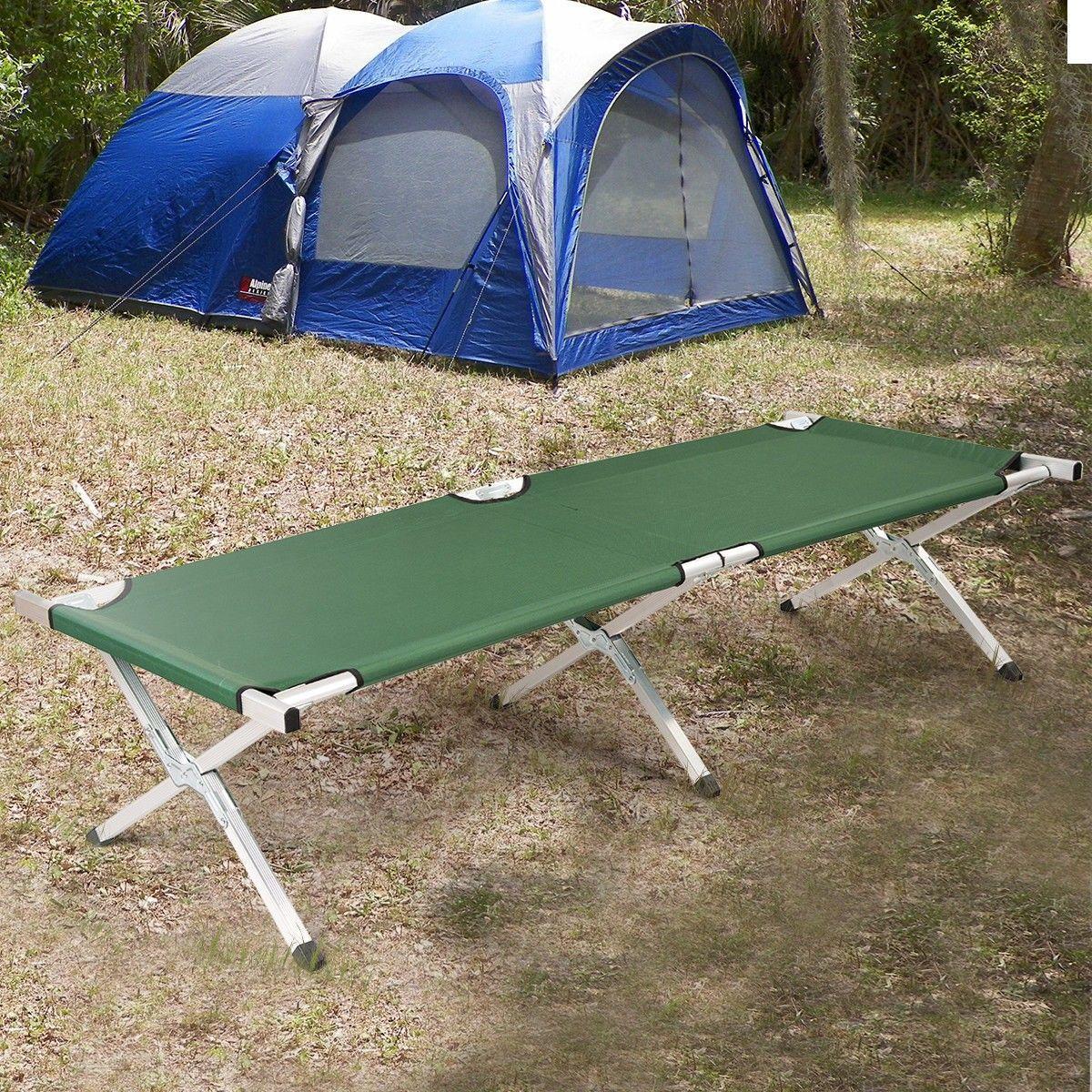 Costway UK Foldable Camping Single Bed Aluminum Frame
