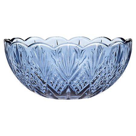 Showcasing A Classic Cut Design And A Lovely Blue Hue This Elegant Best Decorating With Crystal Bowls