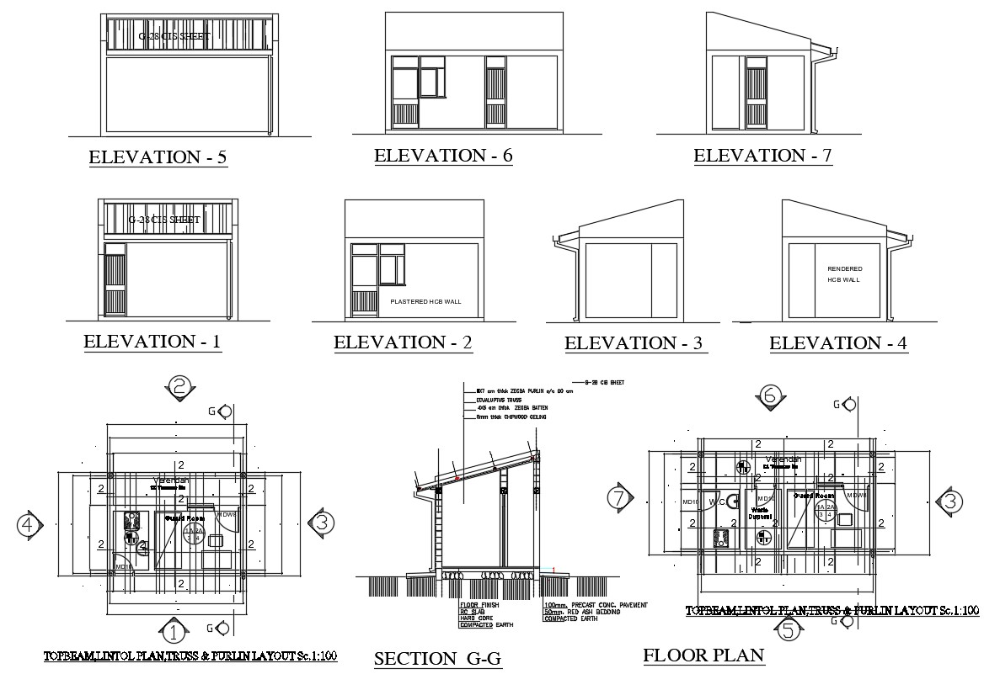 Guard House Plan Dwg File Farmhouse Floor Plans Modern Farmhouse Floorplan House Plans