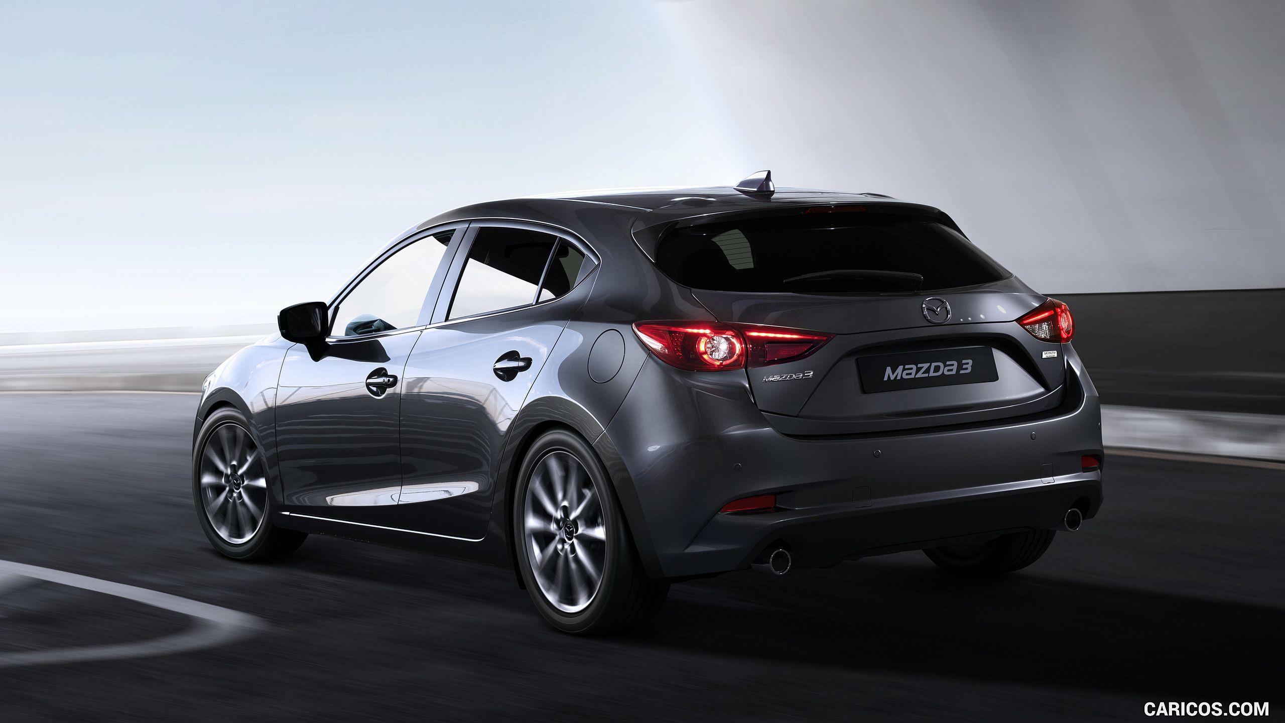 2017 Mazda 3 5 Door Hatchback Color Machine Grey Rear Three Quarter Hd