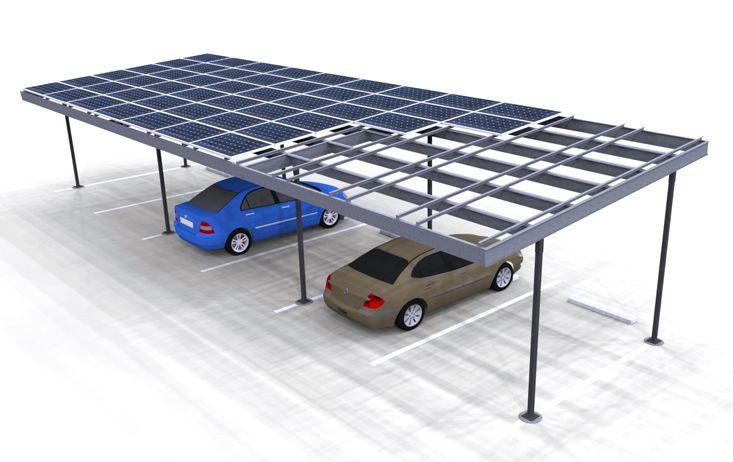 Two Column Single Carport Carport Designs Solar