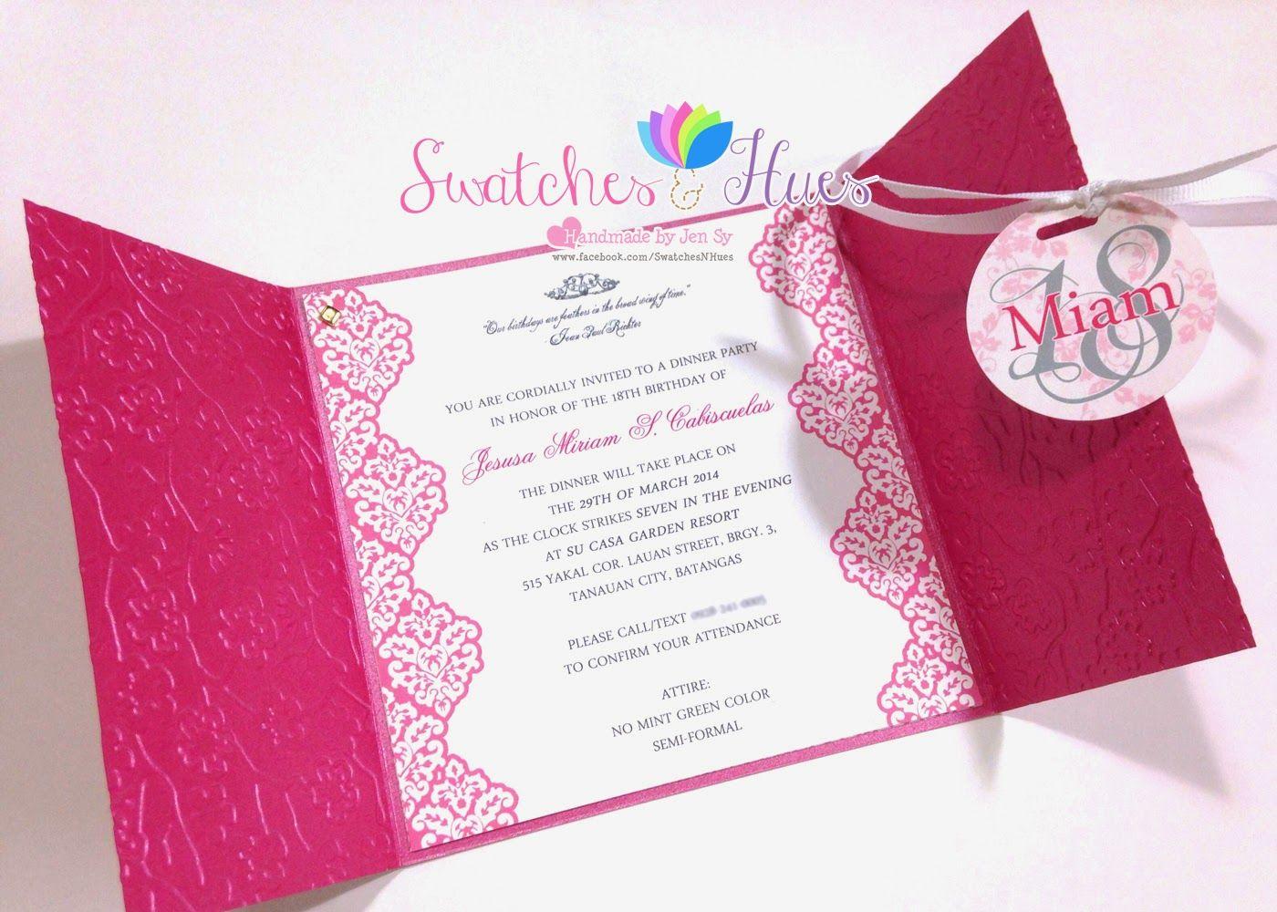 Princess Theme Gate Fold Debut Invitation Birthday Party