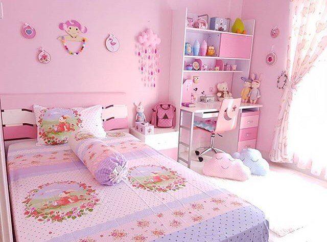 Desain Warna Cat Kamar Tidur Anak Perempuan