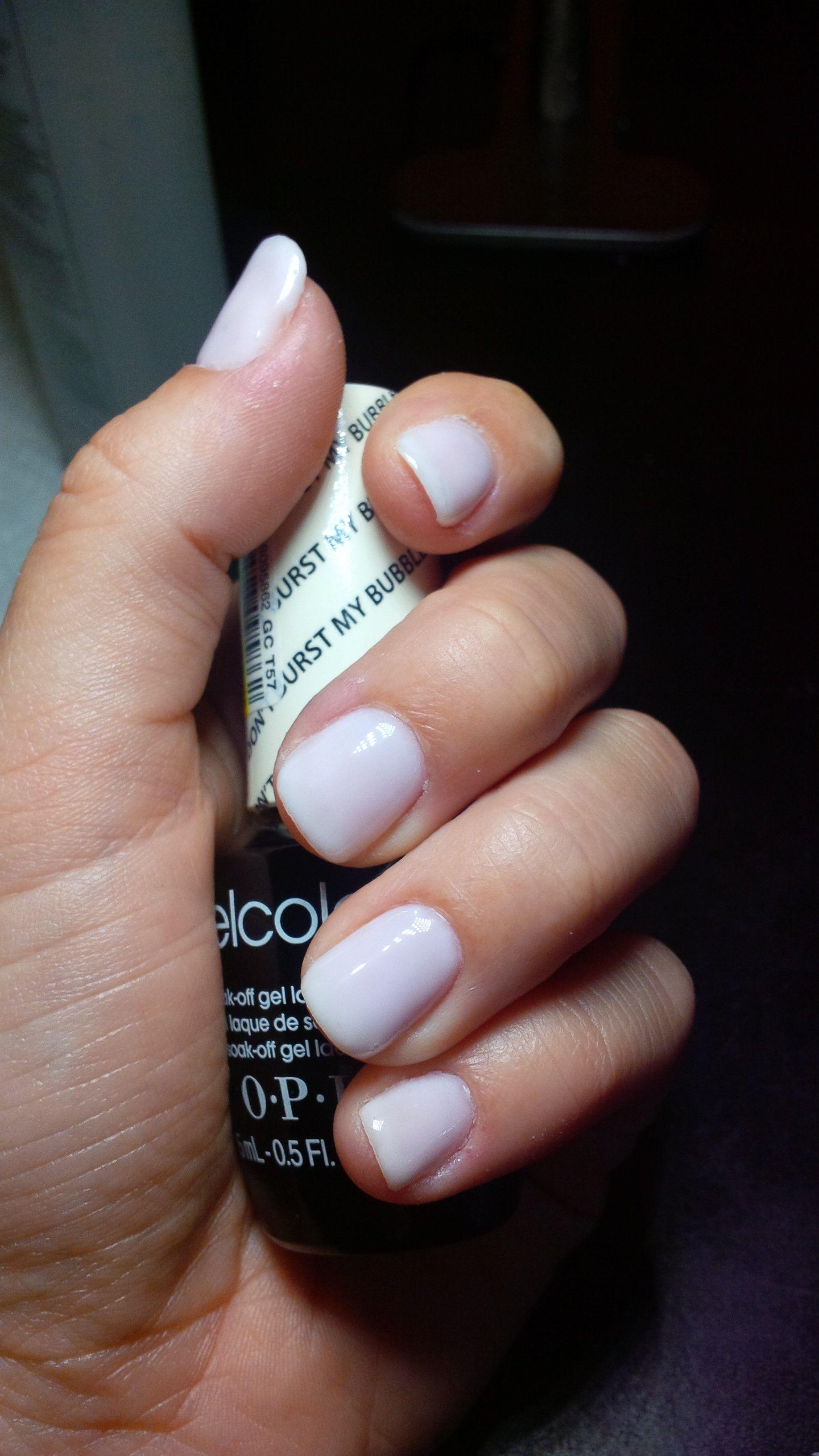 OPI Gelcolor - Don\'t Burst My Bubble | Nails * | Pinterest | Esmalte ...