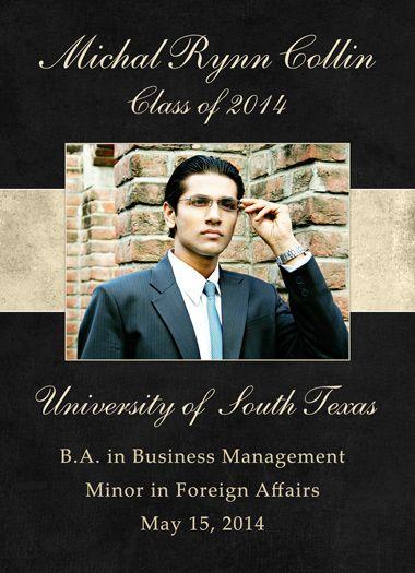Modern College Graduation Announcement