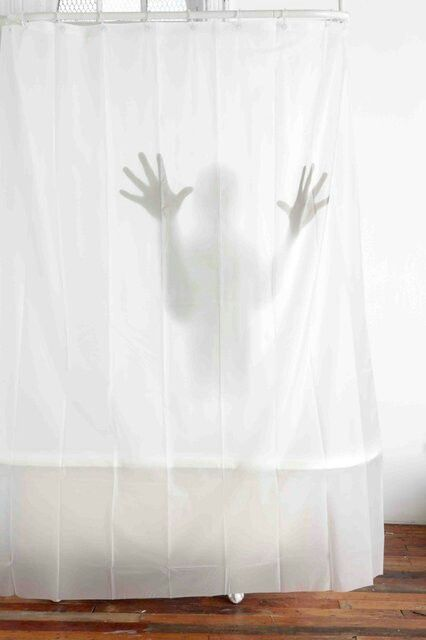 Scary Shower Curtain Very Spooky For Sure Curtains