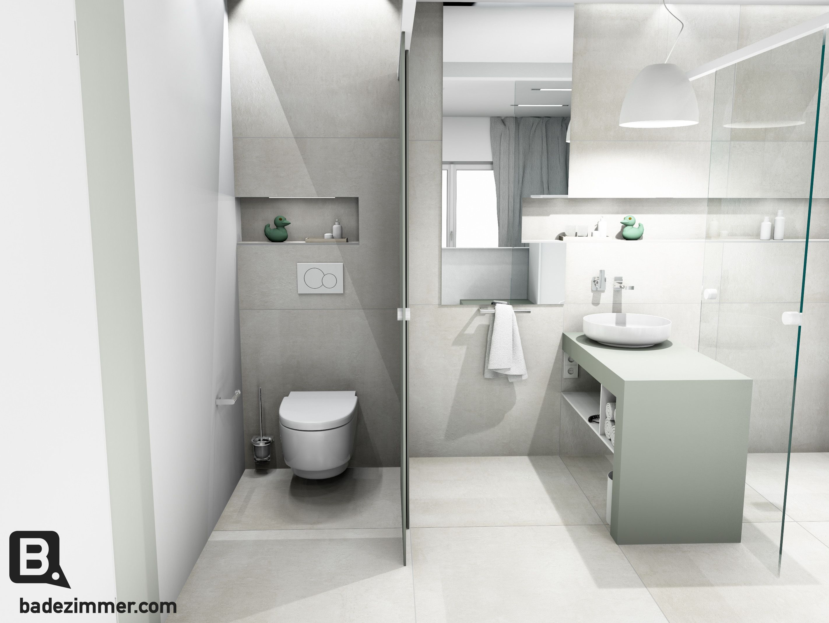 Badezimmer Schiebetür ~ Das wc als intime zone kann durch eine schiebetür geschlossen