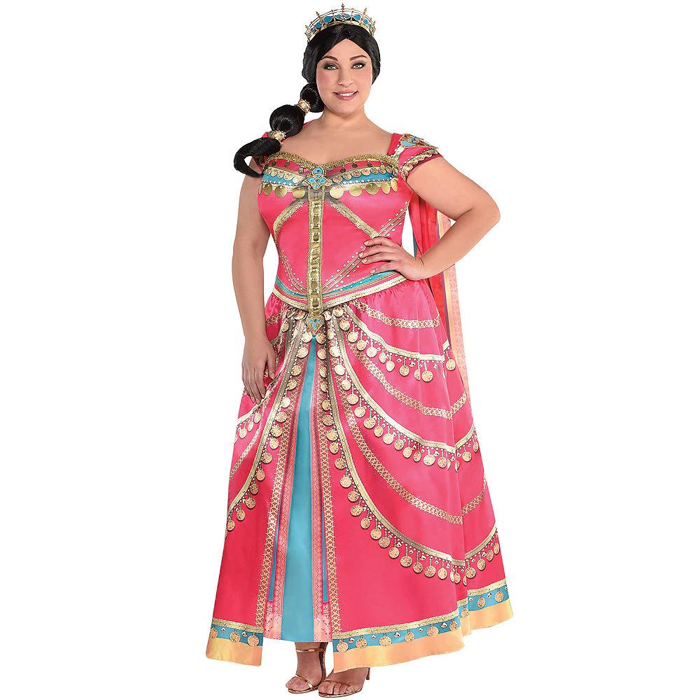 Plus Size Royal Princess Jasmine Dress for Adults