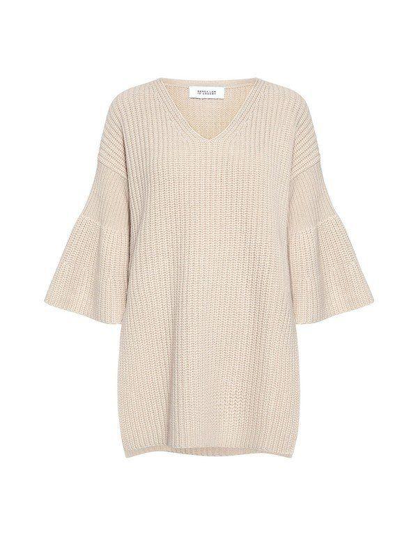 Derek Lam 10 Crosby: Bell Sleeves V-neck Tunic Sweater (item detail - 1)