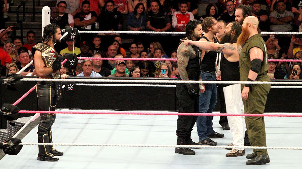 Raw 10/19/15: Roman Reigns, Dean Ambrose & Seth Rollins vs. The Wyatt Family
