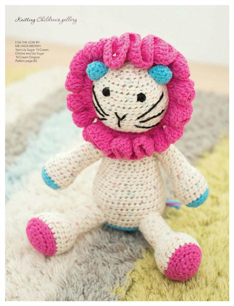 Lisa the Lion | Not Your Grandmother\'s Crochet | Pinterest