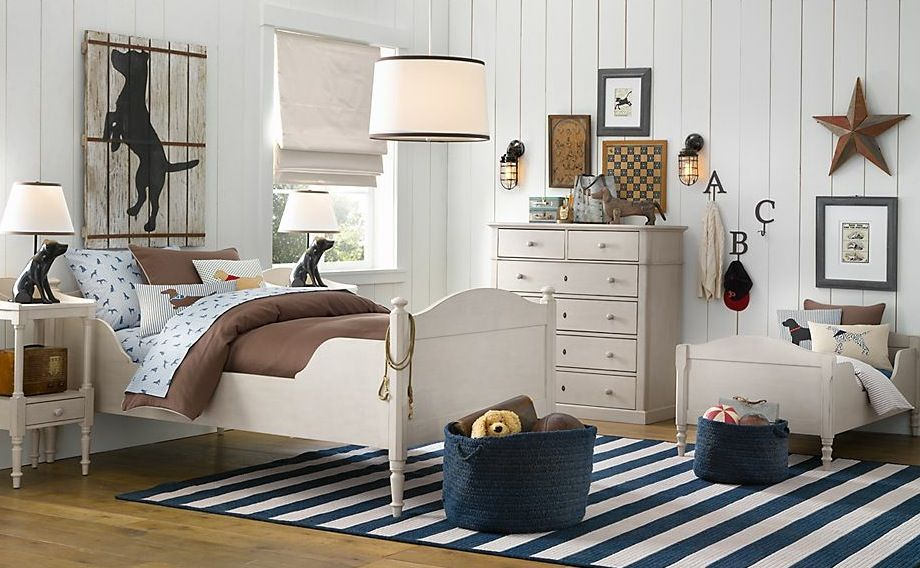 Kids Bedroom, 15 Stylish Boys Room Decors From Baby U0026 Child Restoration  Hardware: Amazing Cream And Blue Boys Room Decor With All White Furniture  And Blue ...