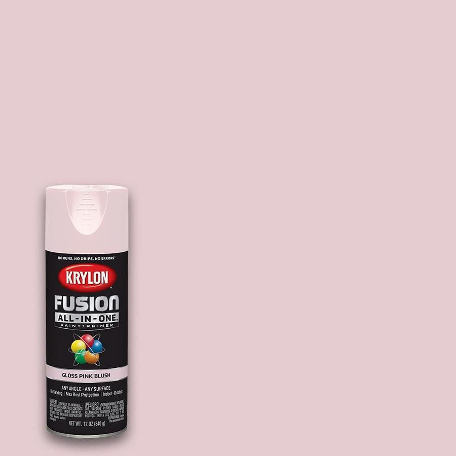 Exterior Spray Paint For Plastic Surface: Krylon Fusion All-in-one General Purpose Gloss Pink Blush