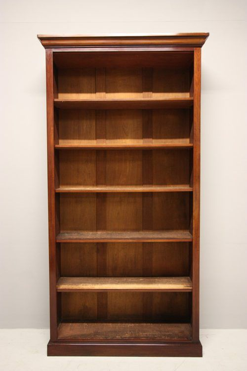 Marvelous Antique Bookcases | Antique Tall Antique Mahogany Open Bookcase.