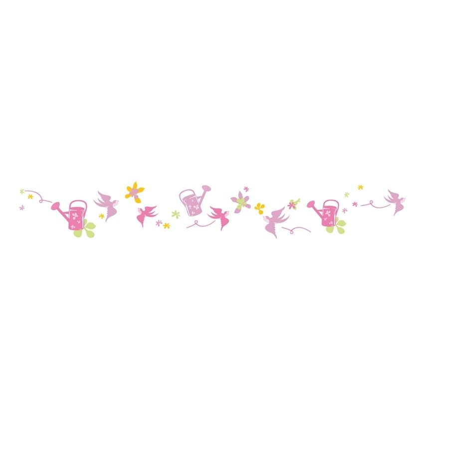 stickers enfant lili pouce frise fleurs oiseaux projet. Black Bedroom Furniture Sets. Home Design Ideas