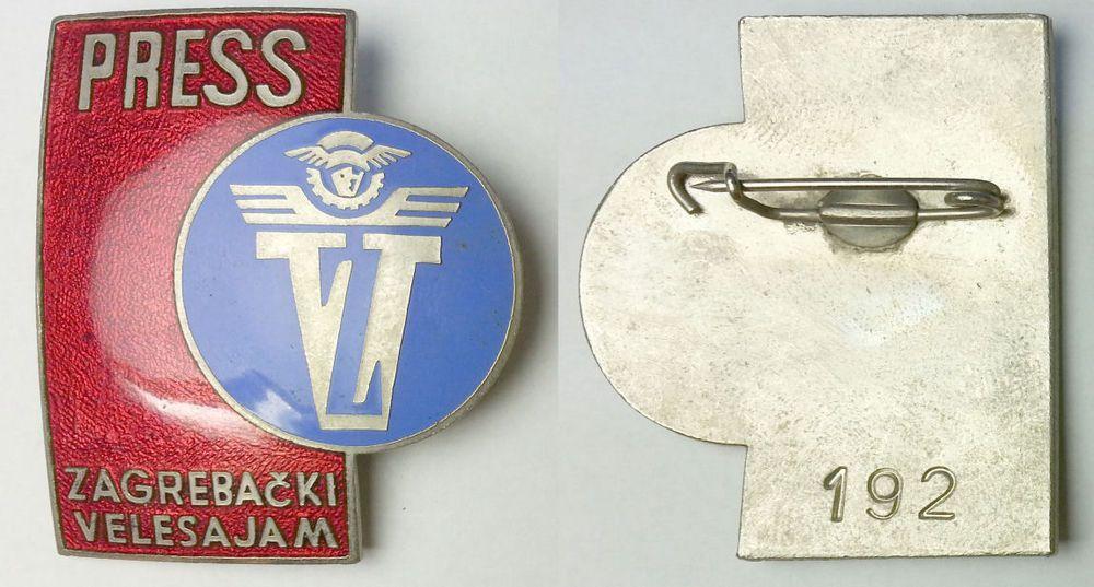 Yugoslavia Croatia Zagreb Fair Vintage Press Badge Numbered With 192 Ebay Badge Vintage Zagreb