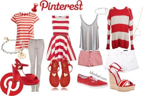 Pinterest Inspired Social Media Outfits!  (Also: Facebook, Twitter, YouTube, Tumblr, and Instagram.)