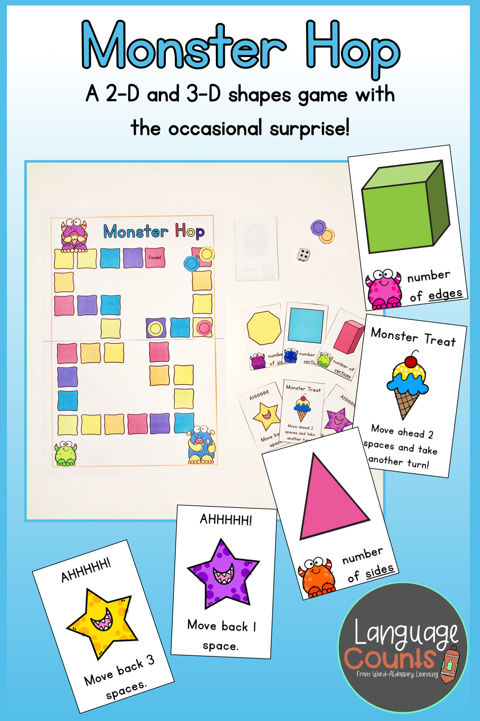 Geometry Attributes Game 2d And 3d Shapes