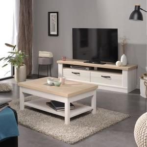 Clarence Ensemble Table Basse Meuble Tv Gris Idees