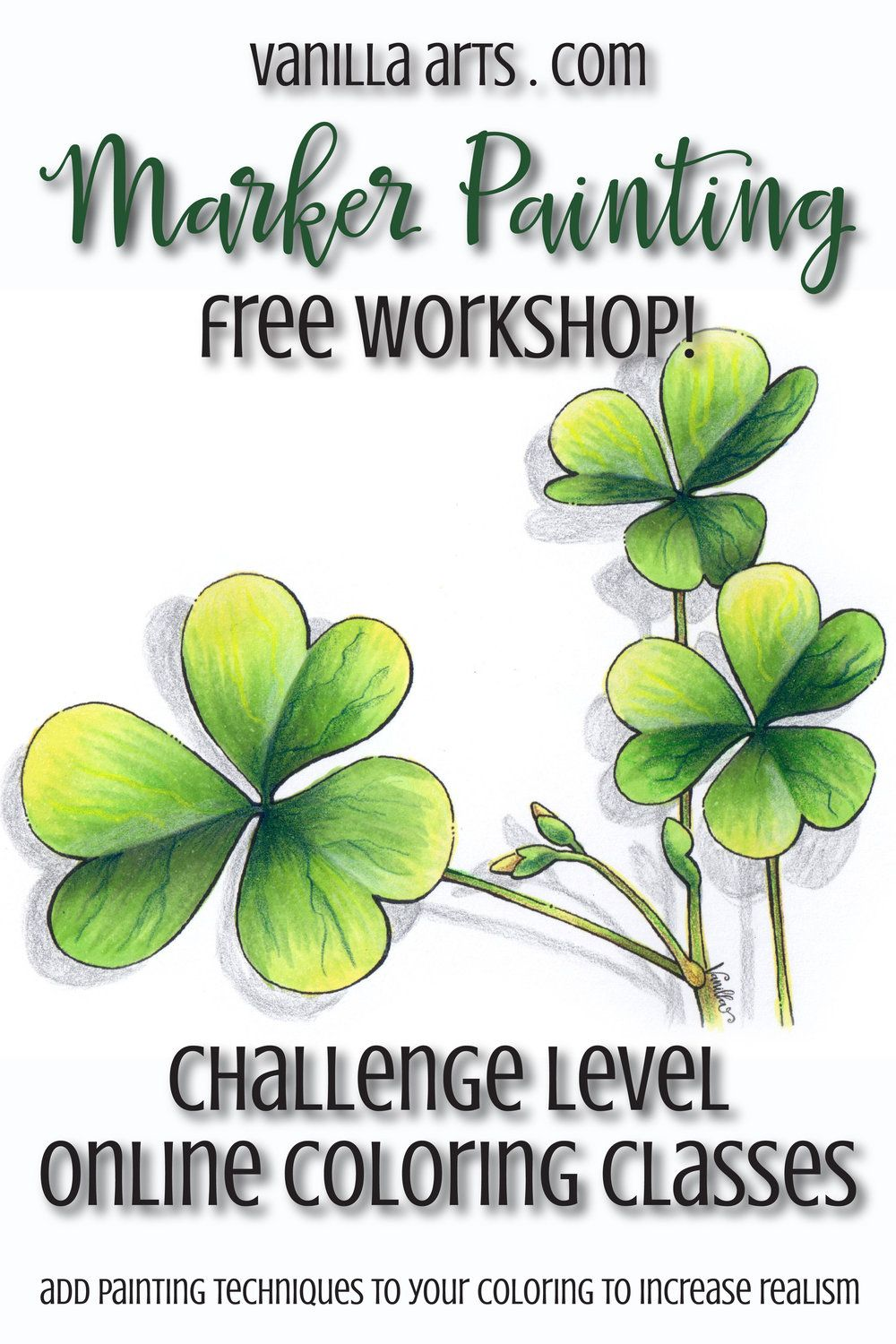 FREE- Try a Marker Painting Workshop! Art based Copic coloring class ...