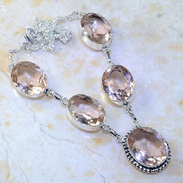 fa8fc52aed4 Tpz 376a collier sautoir parure topaze rose pink bijou argent 925 vente  achat