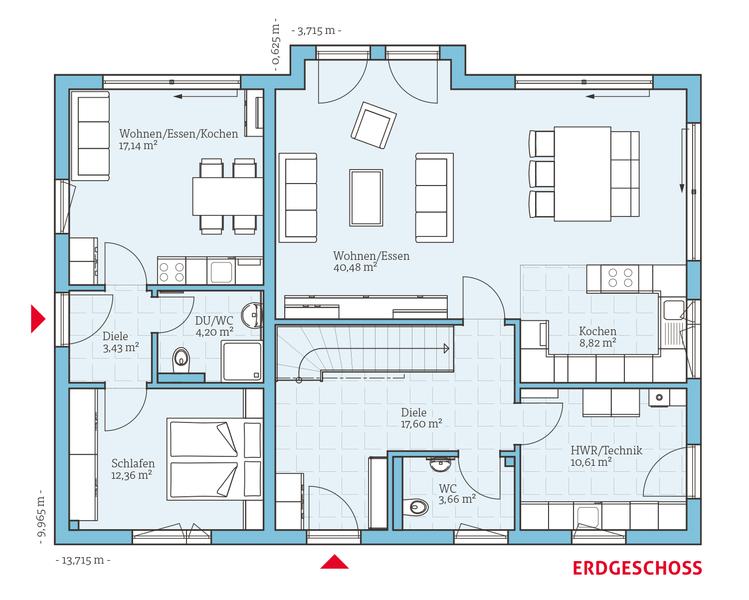 Variant 35235 EG mit Einliegerwohnung Haus und