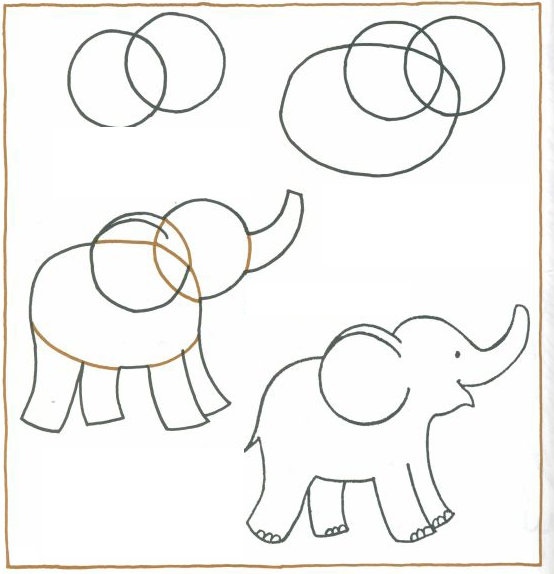 How to draw an elephant for kids step by step draw an elephant step by step indianhindubaby