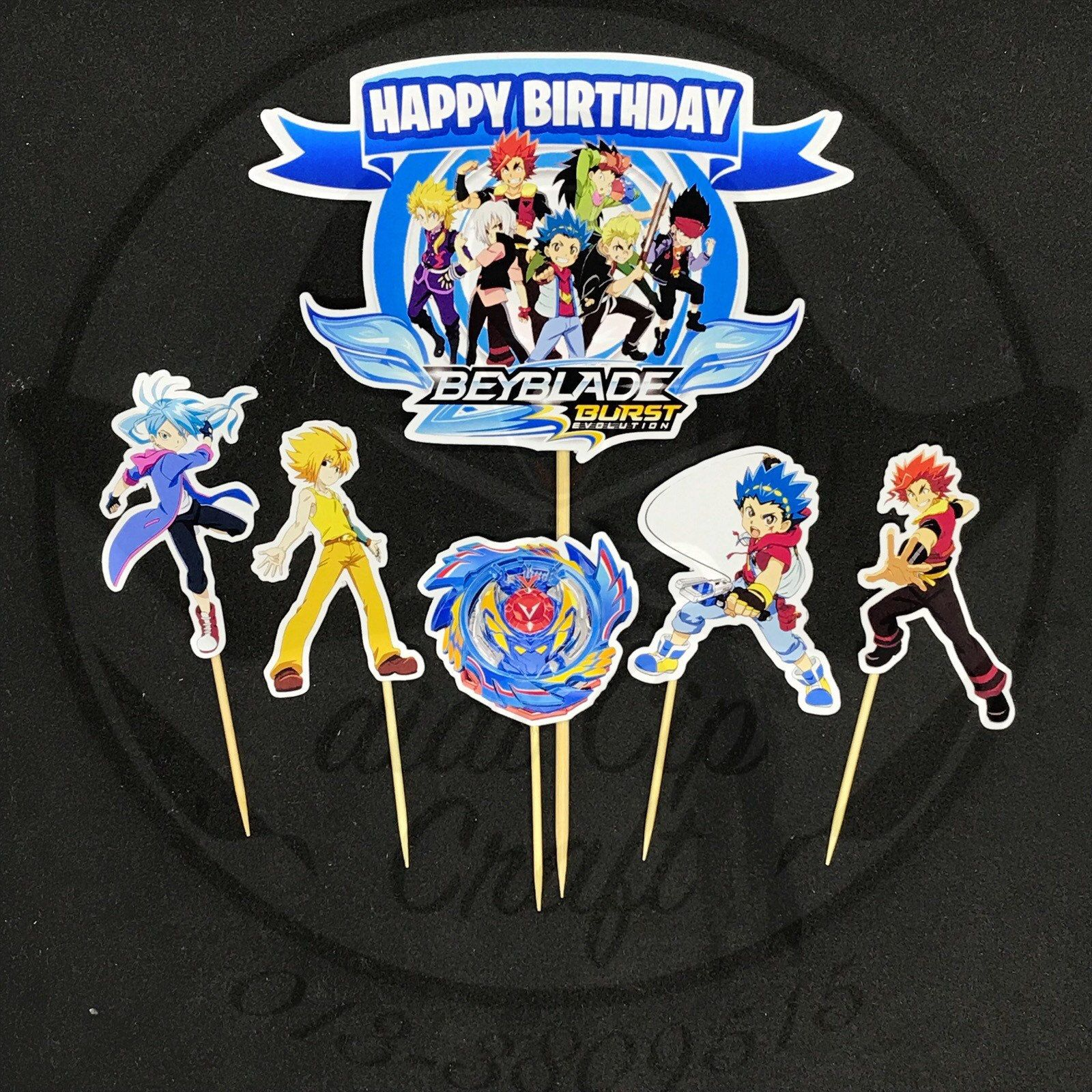 Special Offer Personalise Beyblade Burst Cake Topper Template With Digital Beyblade Birthday Party Banner In 2021 Beyblade Cake Beyblade Birthday Party Beyblade Birthday