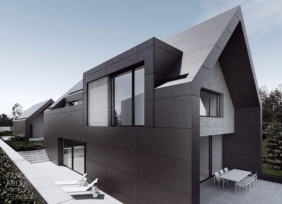 contemporary dormer o house krak w by tamizo p t szet pinterest architektur gaube. Black Bedroom Furniture Sets. Home Design Ideas