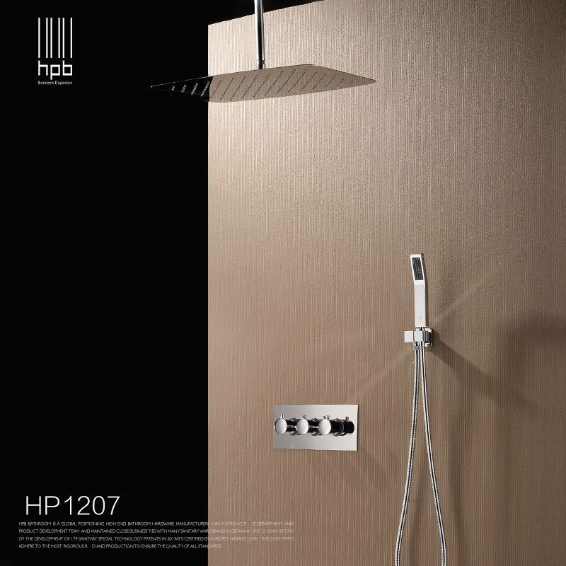 HPB Brass Bathroom Hot And Cold Water Mixer Wall Mounted Bath Shower ...