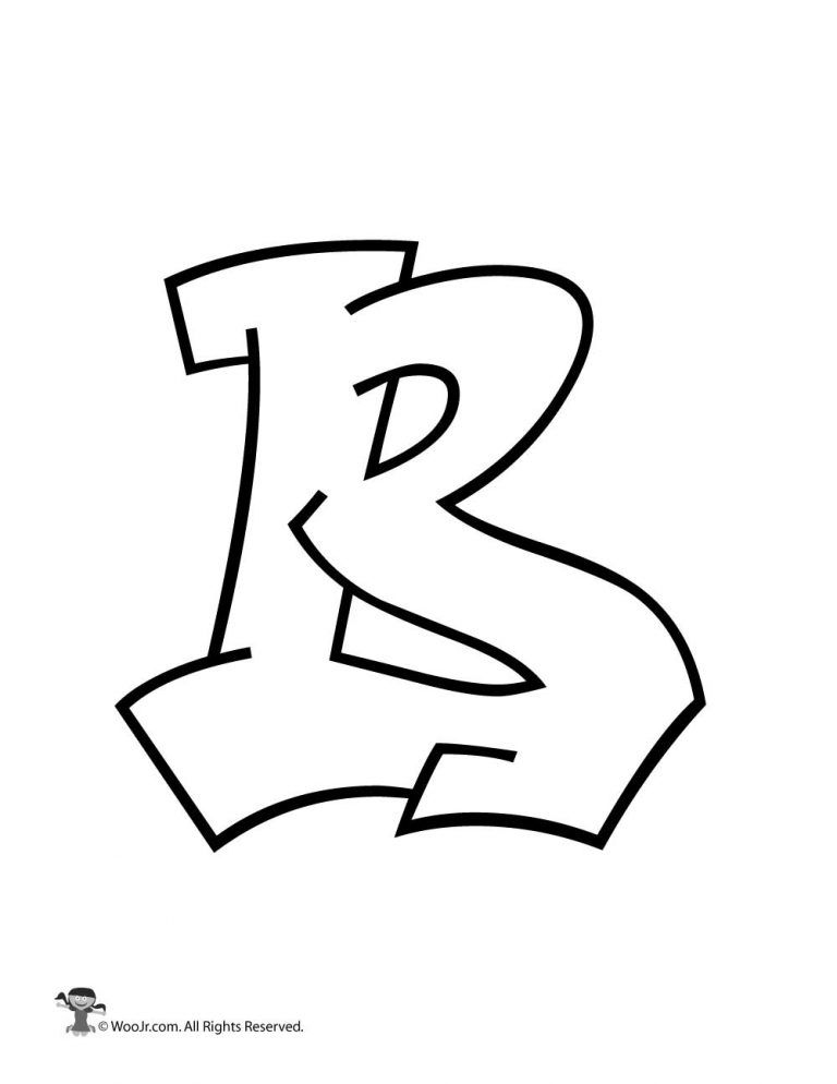 graffiti capital letter b