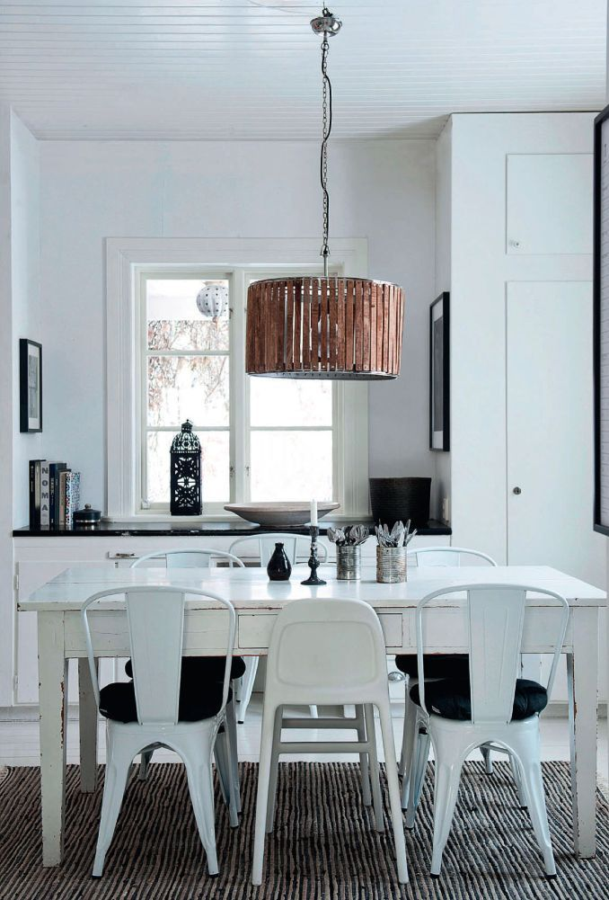 25 Cuisines De Rêve Pour S'inspirer…#blanc  Industrial Modern Awesome White Dining Room Chairs Modern Decorating Design