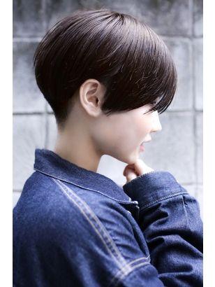Ing 刈り上げ丸みショート 小川晏奈 ヘアスタイル ヘアスタイリング 美しいヘアスタイル