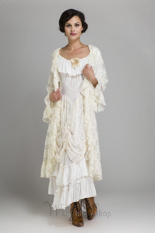Cowgirl ruffled western wedding dress by marrika nakk love lace
