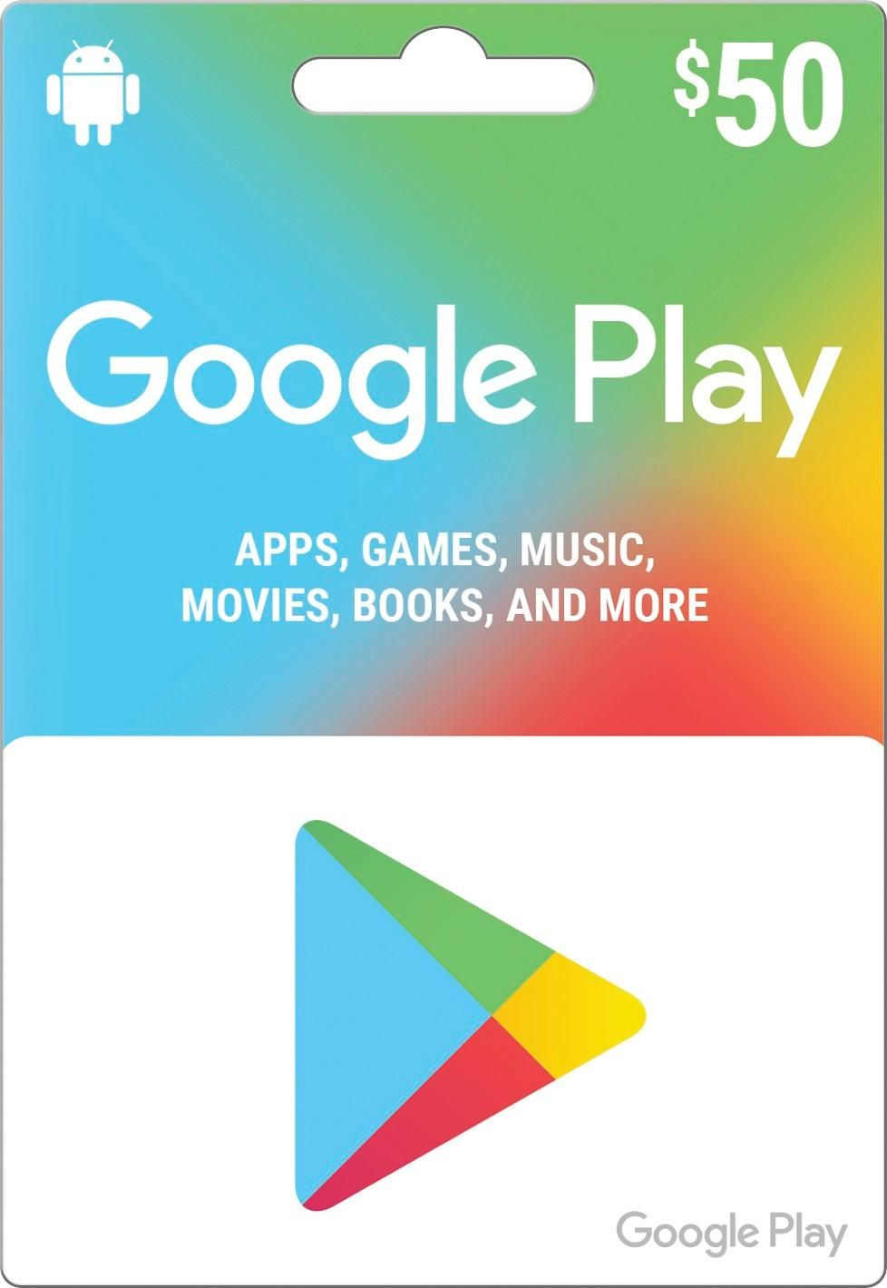Google Play $50 Gift Card GOOGLE PLAY 2017 $50 - Best Buy ...