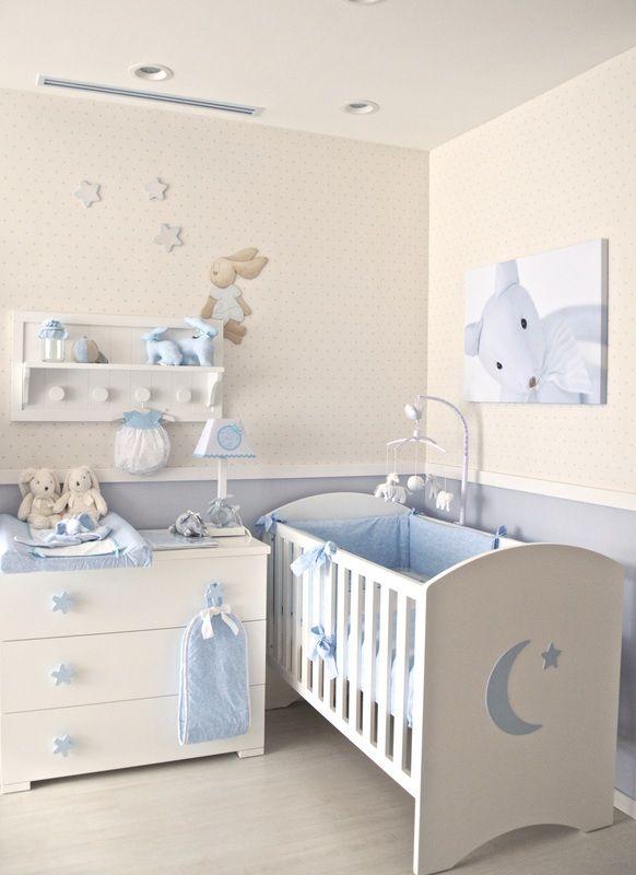 Cunas baby luna muebles para el cuarto de tu beb for Decoracion pared bebe nino