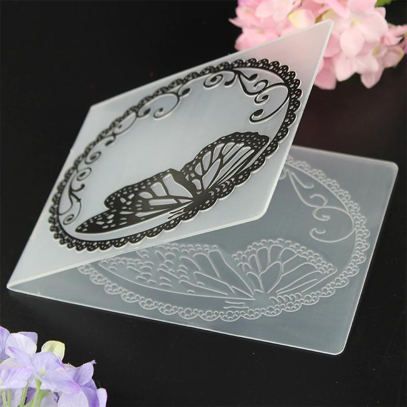 Flower Vine Frame Folder Plastic Template Embossing Dies Stencil DIY Snowflake