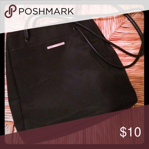 Nine West microfiber purse Black microfiber purse. One front pocket. Two inside pockets. Magnetic snap closure. Nine West Bags Shoulder Bags
