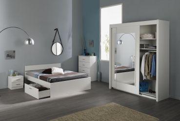 Schlafzimmer Linus X - 4tlg. Weiß #Möbel #weiß #Schlafzimmer ...