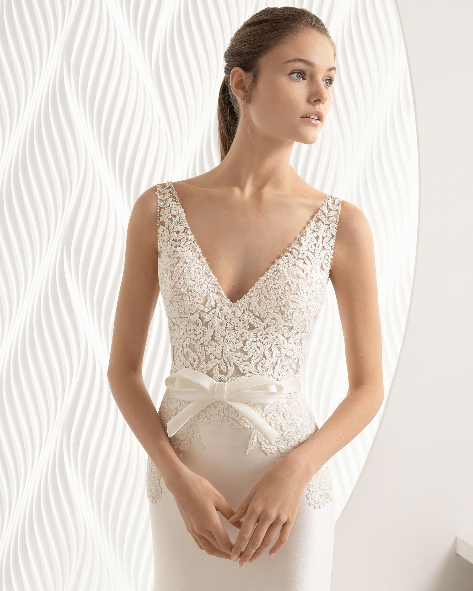 Arte noivas coleção rosa clará beaded lace wedding dress