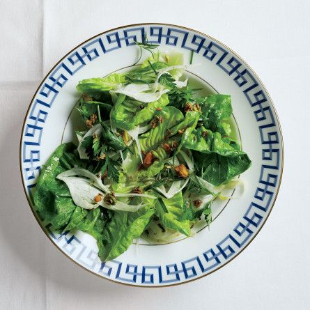 Herb Salad with Pistachios, Fennel, and Horseradish Recipe