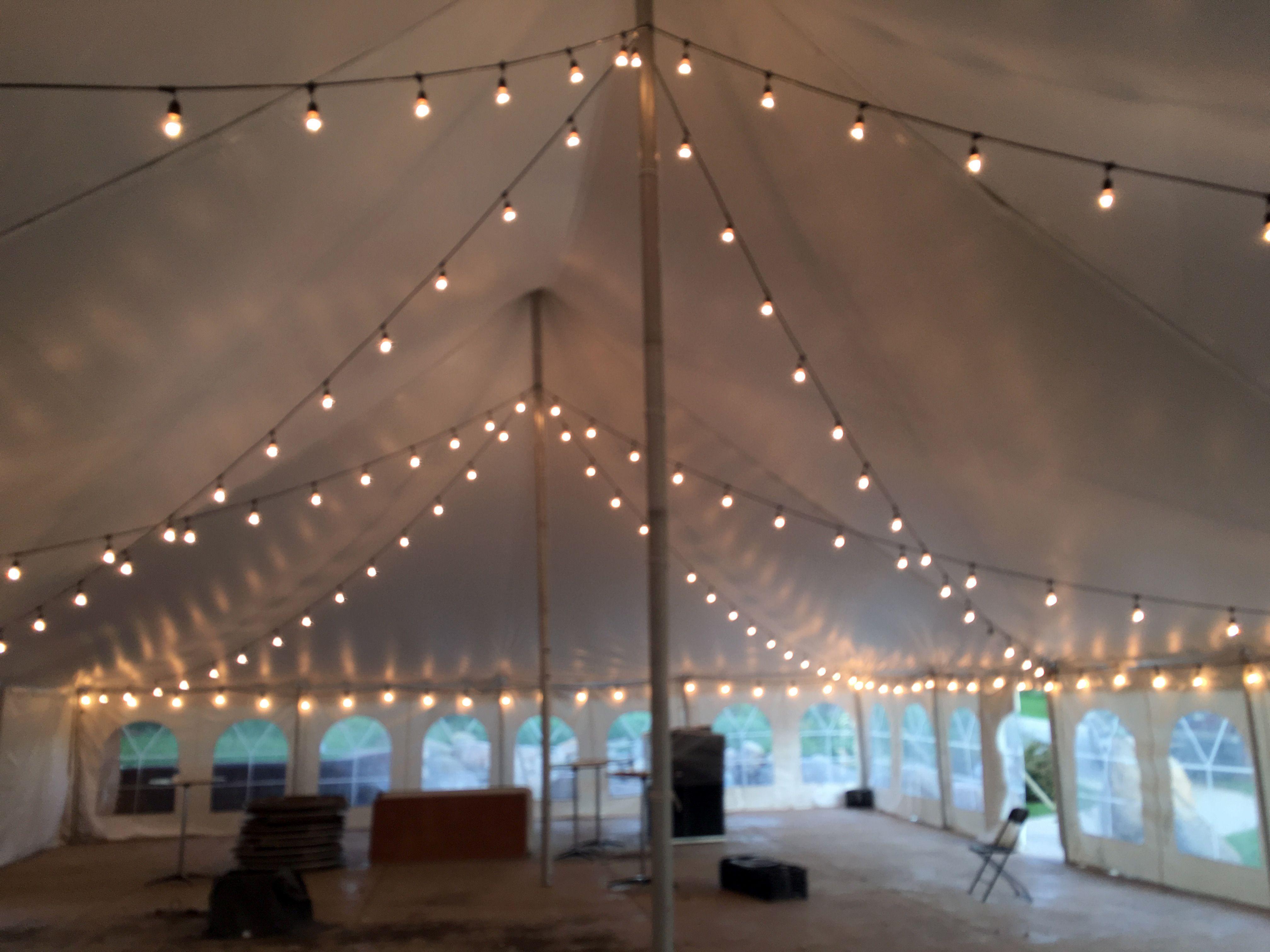 tent branches pole Google Search Barn wedding lighting