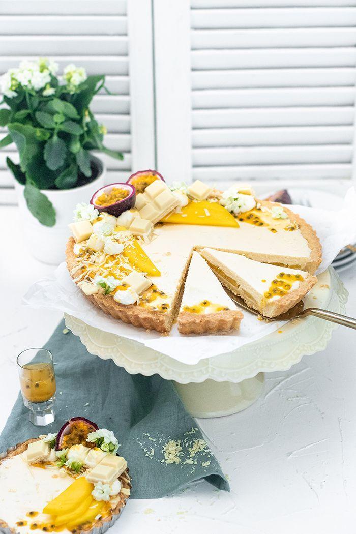 Weiße Schokoladen Tarte mit Mango & Maracuja - KüchenDeern