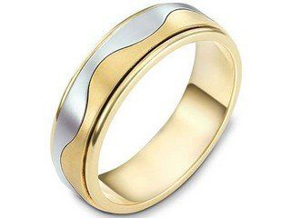Dora Waved Grooves European Mens Wedding Ring Dora B1301 A13008