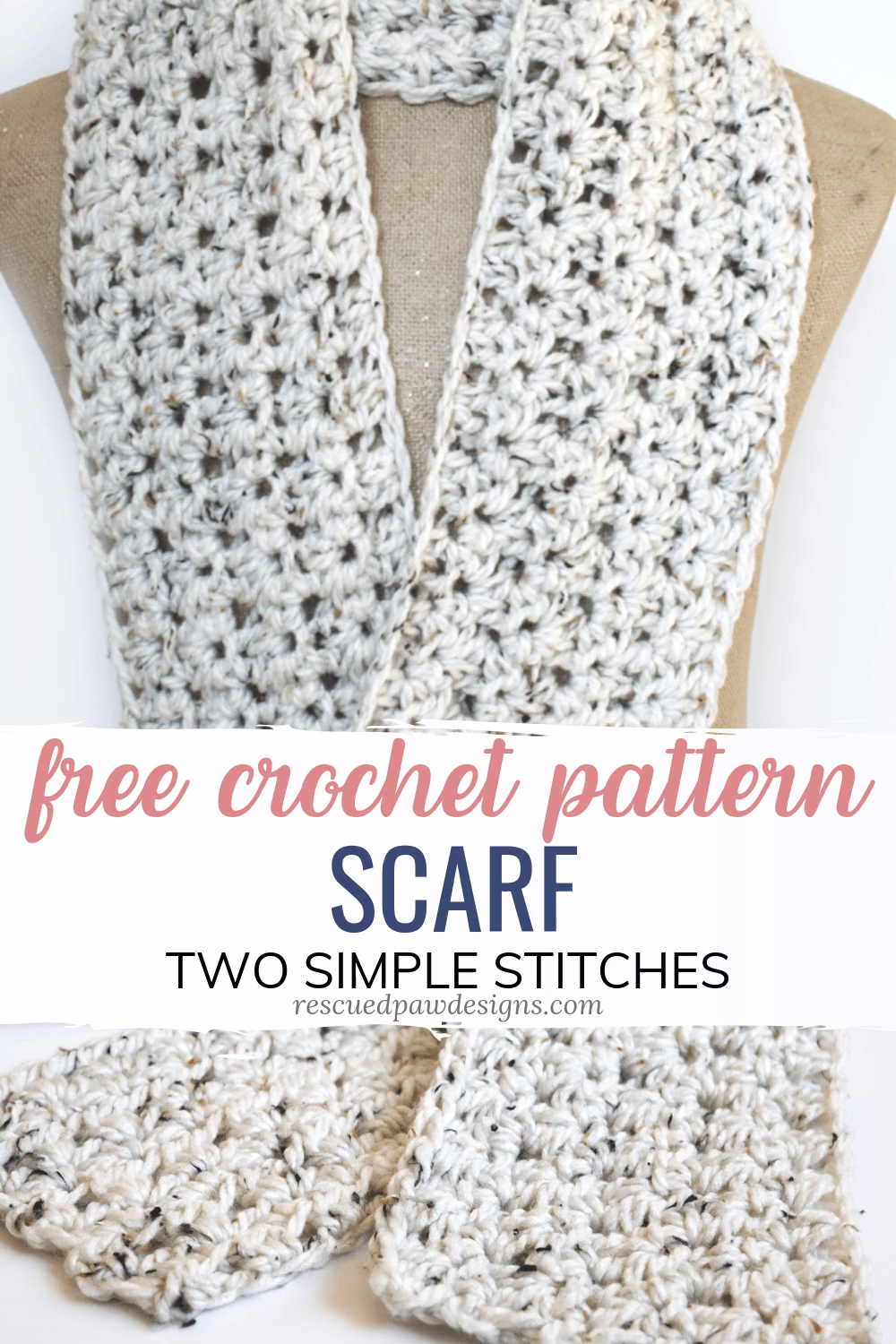 Photo of Crochet Scarf Pattern for Beginners