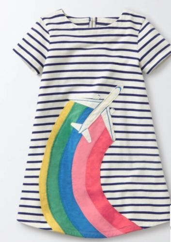 32bc8857c70b Tops Shirts and T-Shirts 175529: Mini Boden Girls Applique Airplane Dress  Size 5-6 Nwt -> BUY IT NOW ONLY: $59 on eBay!